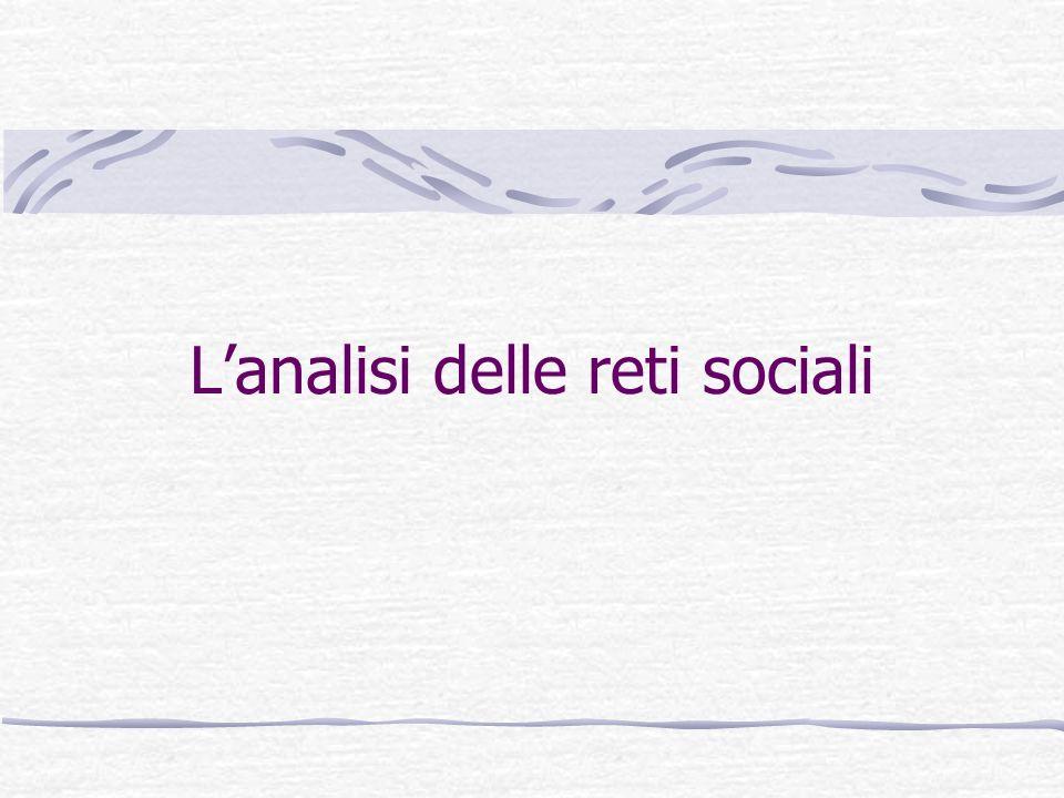 Lanalisi delle reti sociali