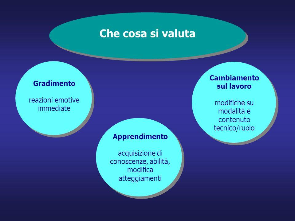 Monitoraggio e valutazione dei servizi formativi La soglia La soglia indica il valore minimo (generalmente espresso in %) che si considera soddisfacente rispetto alla realizzazione di una attività o al raggiungimento di un risultato