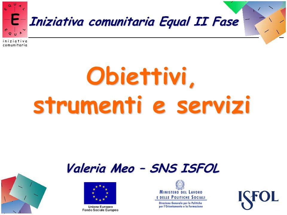 Obiettivi, strumenti e servizi Valeria Meo – SNS ISFOL