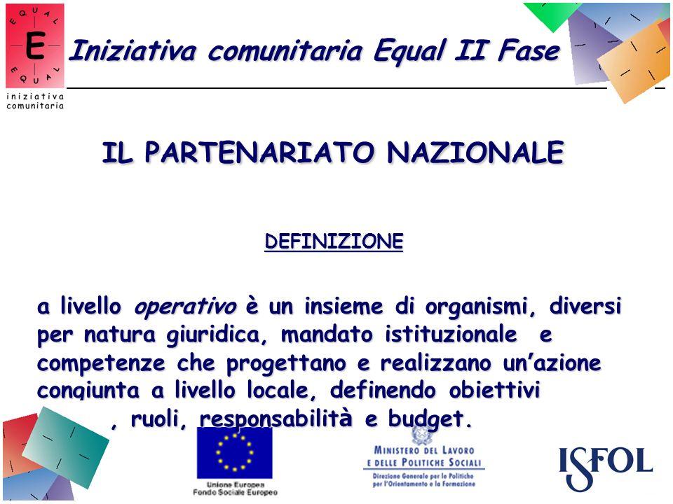 IL PARTENARIATO NAZIONALE DEFINIZIONE a livello operativo è un insieme di organismi, diversi per natura giuridica, mandato istituzionale e competenze