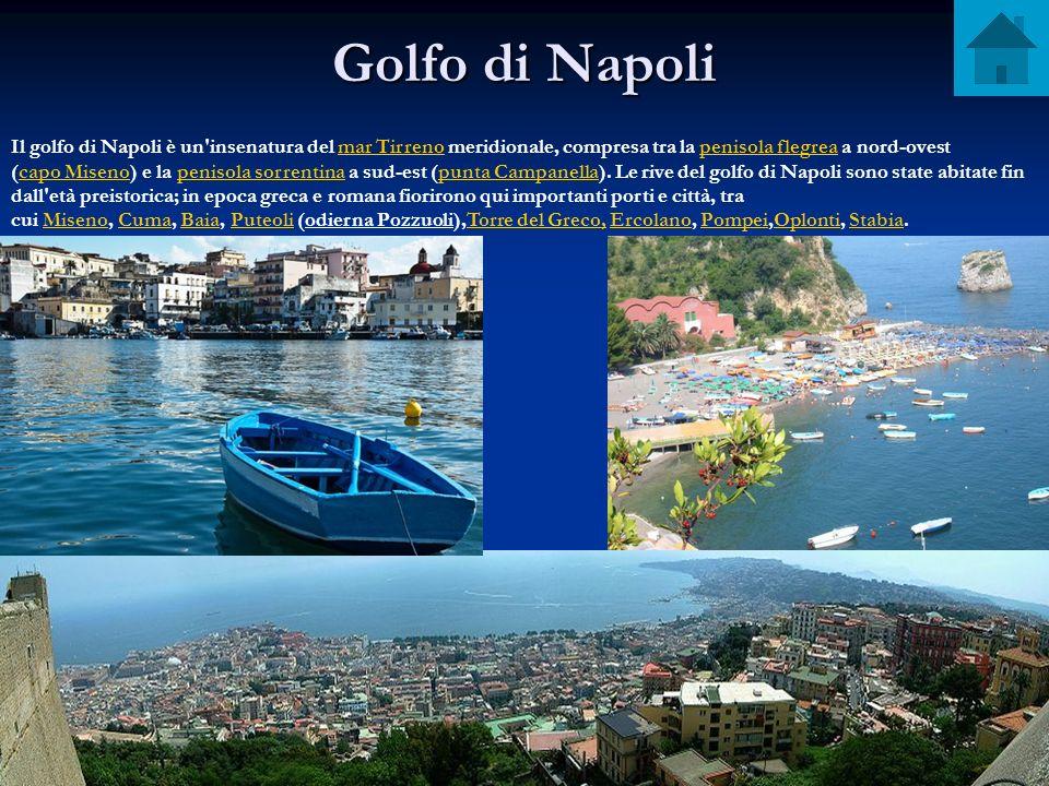 Golfo di Napoli Il golfo di Napoli è un'insenatura del mar Tirreno meridionale, compresa tra la penisola flegrea a nord-ovest (capo Miseno) e la penis