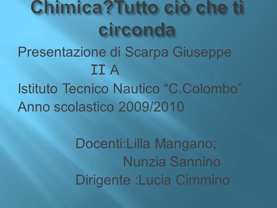 Presentazione di Scarpa Giuseppe II A Istituto Tecnico Nautico C.Colombo Anno scolastico 2009/2010 Docenti:Lilla Mangano; Nunzia Sannino Dirigente :Lu