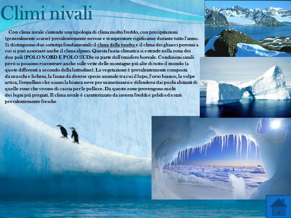 Climi boreali Il clima boreale (chiamato anche temperato freddo) è un tipo di clima con temperature medie molto basse e valori minimi invernali bassis
