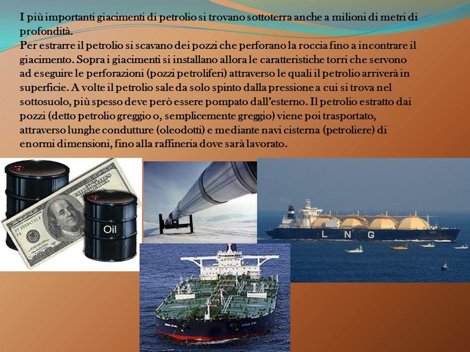 Il petrolio è un liquido oleoso che si trova nelle profondità del terreno. E' un combustibile fossile derivato dalla composizione di sostanze organich