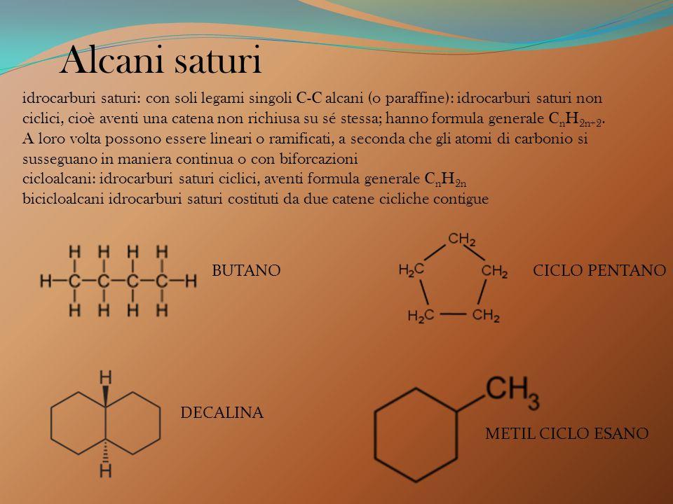 Dal punto di vista delle proprietà chimiche, gli idrocarburi si distinguono in due classi principali: