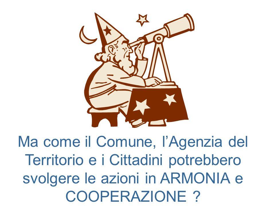 Ma come il Comune, lAgenzia del Territorio e i Cittadini potrebbero svolgere le azioni in ARMONIA e COOPERAZIONE