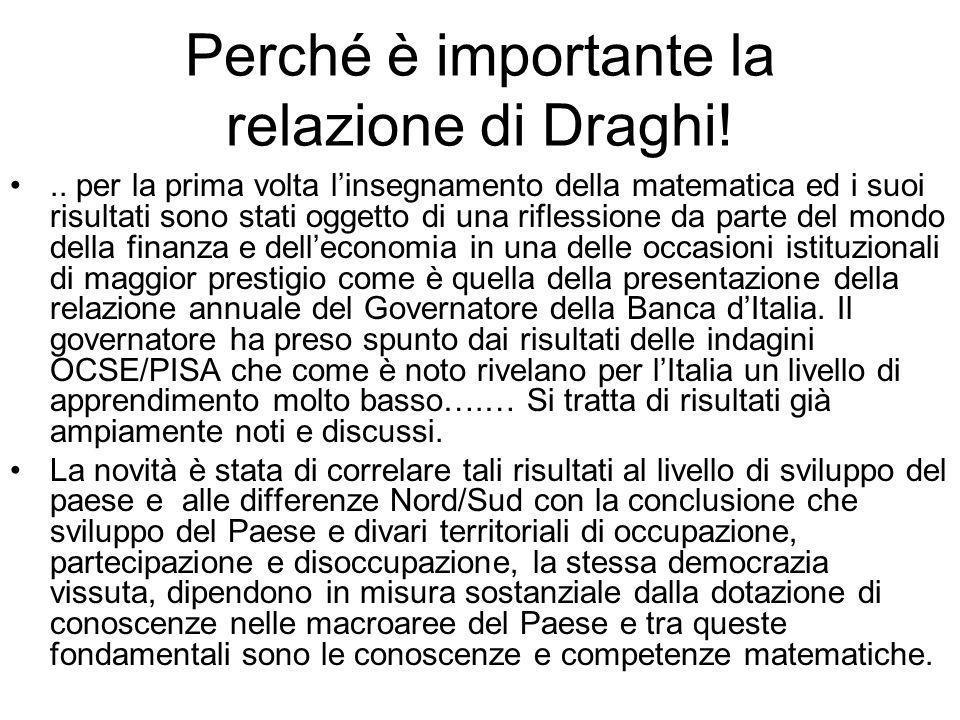 Perché è importante la relazione di Draghi!..