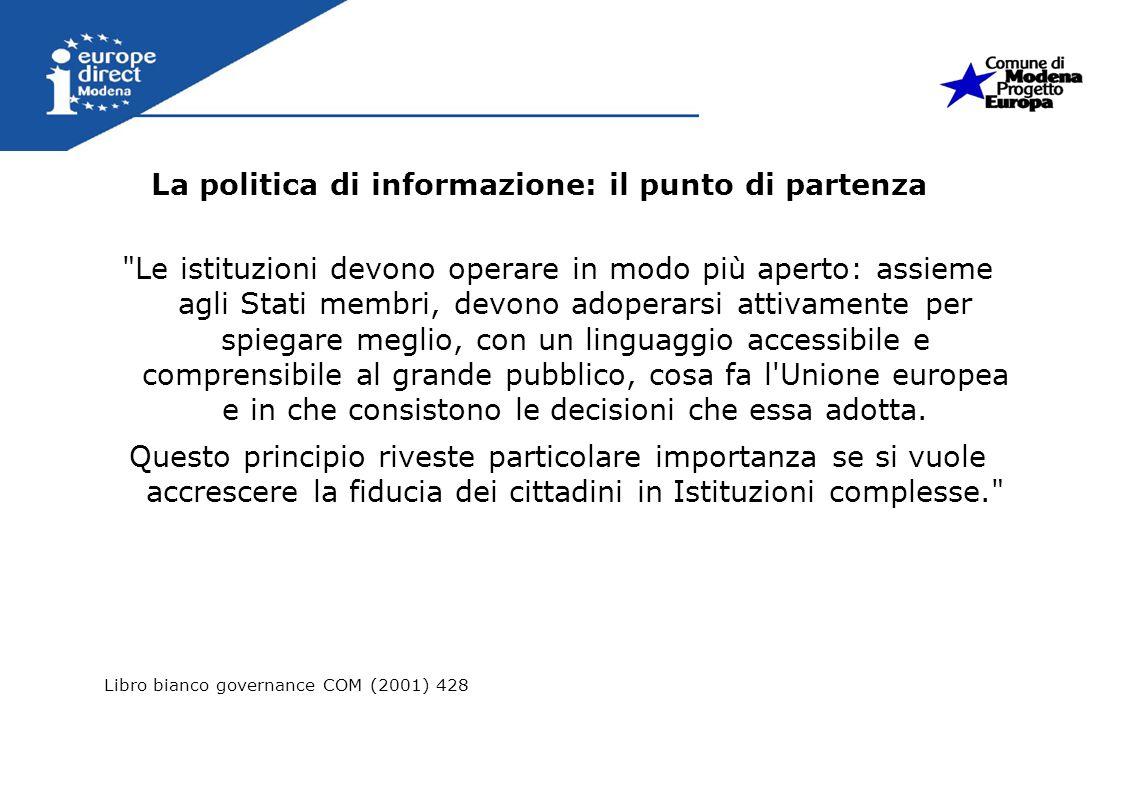 La politica di informazione: il punto di partenza