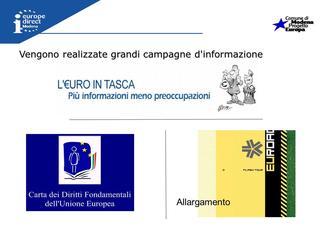 Vengono realizzate grandi campagne d'informazione Allargamento