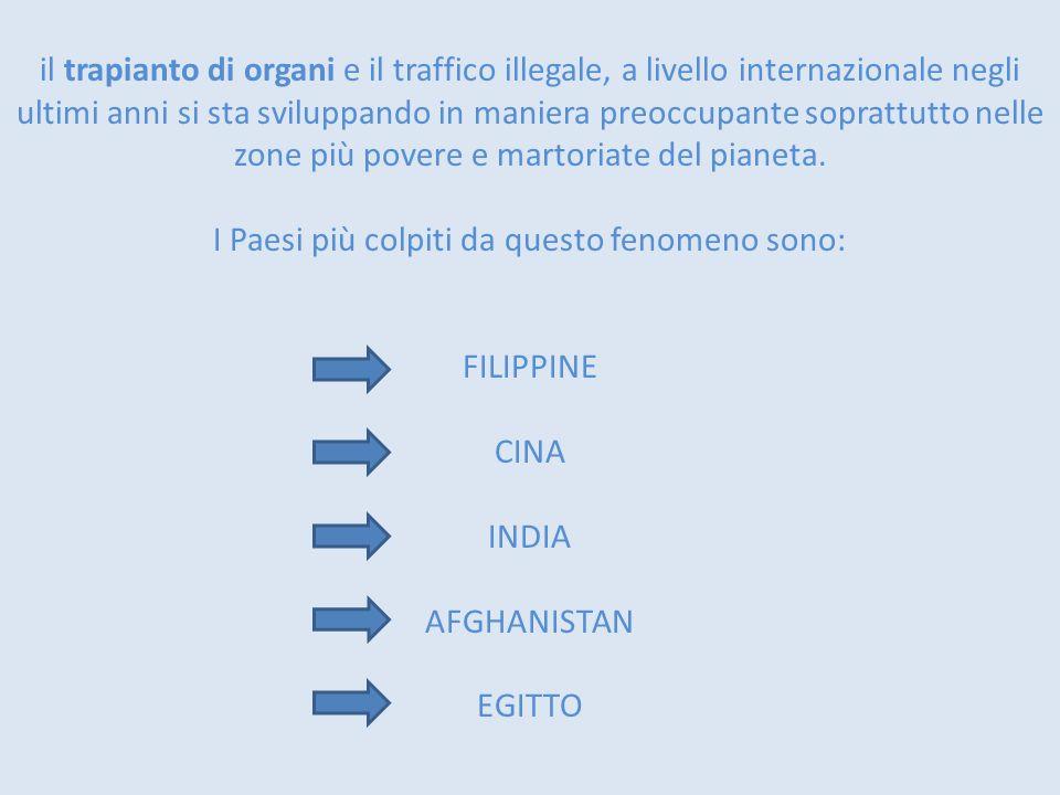 il trapianto di organi e il traffico illegale, a livello internazionale negli ultimi anni si sta sviluppando in maniera preoccupante soprattutto nelle