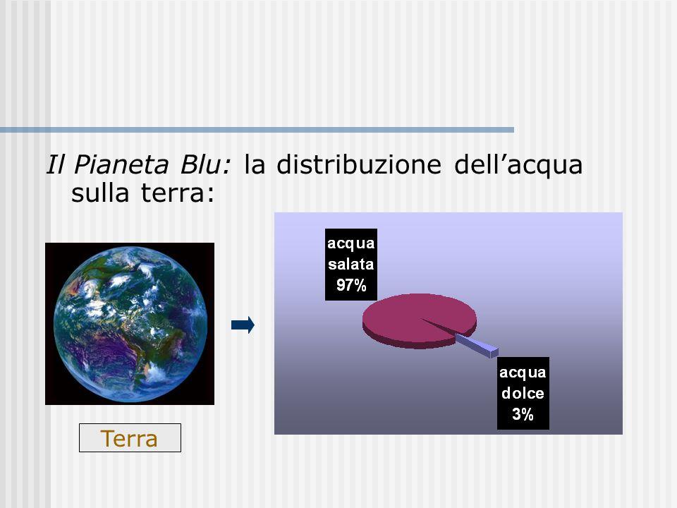 Il Pianeta Blu: la distribuzione dellacqua sulla terra: Terra