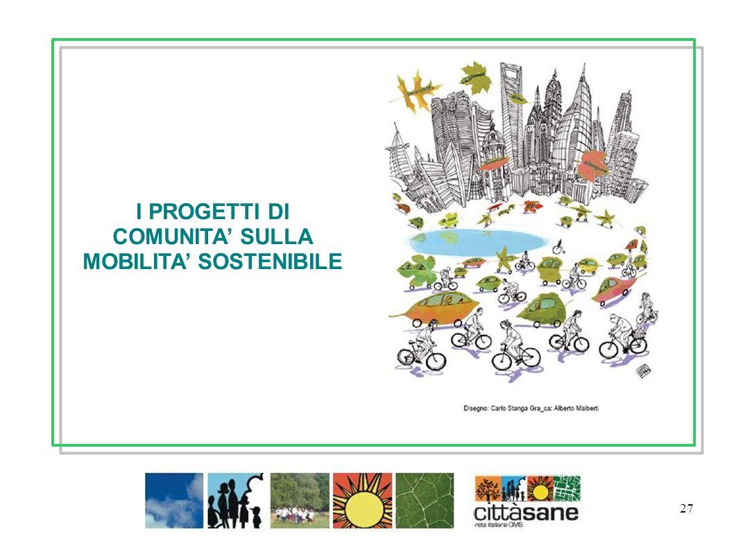 27 I PROGETTI DI COMUNITA SULLA MOBILITA SOSTENIBILE Gennaio 2012