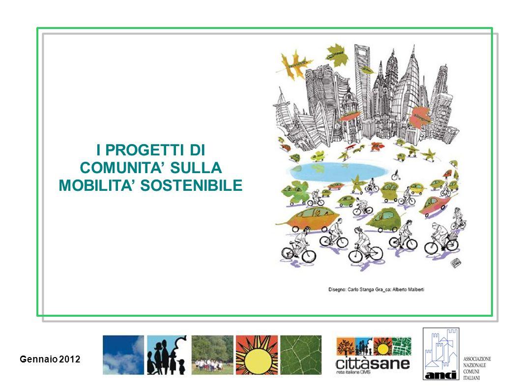 Marzo 2011 I PROGETTI DI COMUNITA SULLA MOBILITA SOSTENIBILE Gennaio 2012