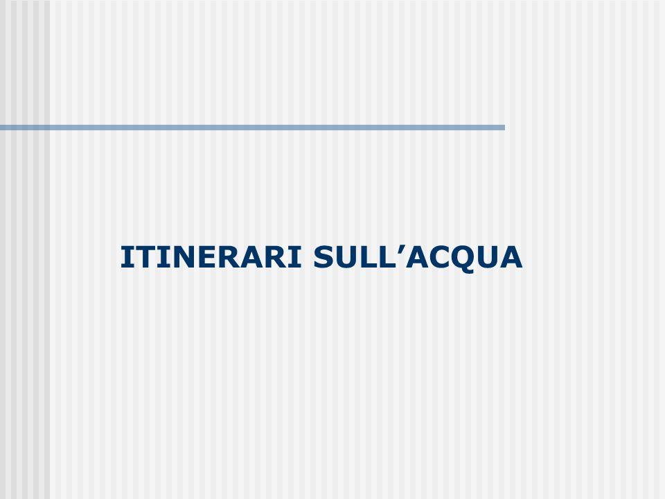 ITINERARI SULLACQUA