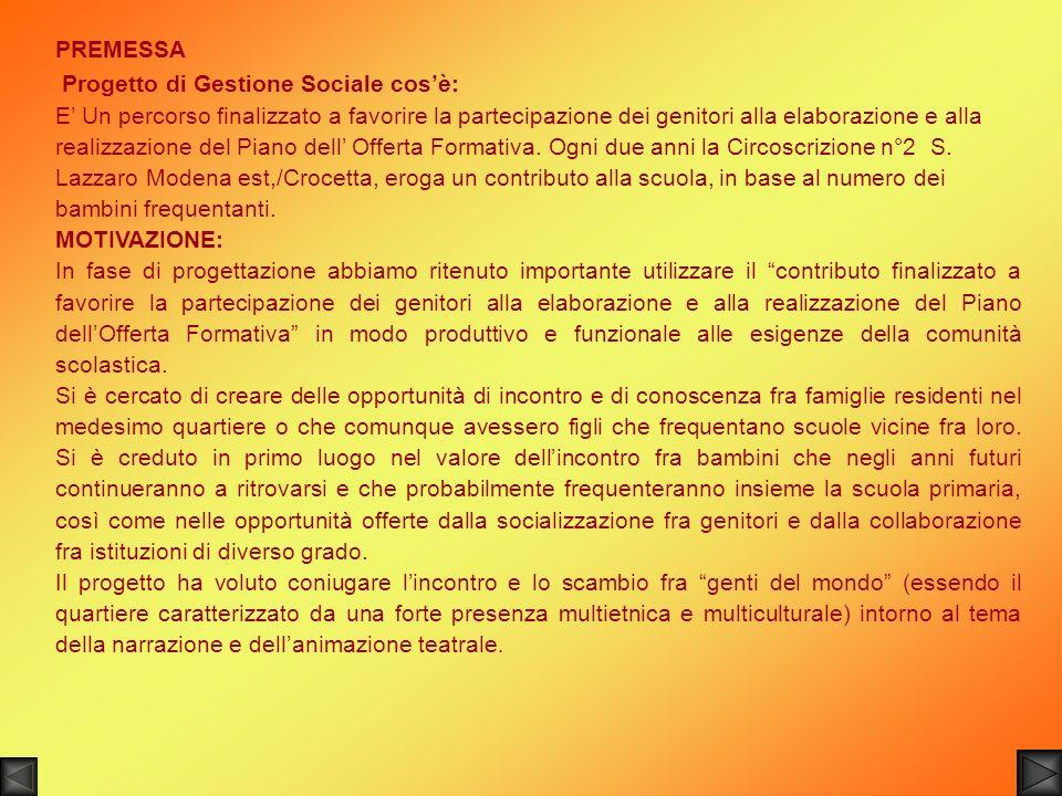 Si ringraziano tutti i componenti della Compagnia del Teatro XXI e i genitori che hanno contribuito alla realizzazione del progetto, il Dirigente scolastico del 7° circolo di Modena, le insegnanti dei plessi coinvolti, il Prof.