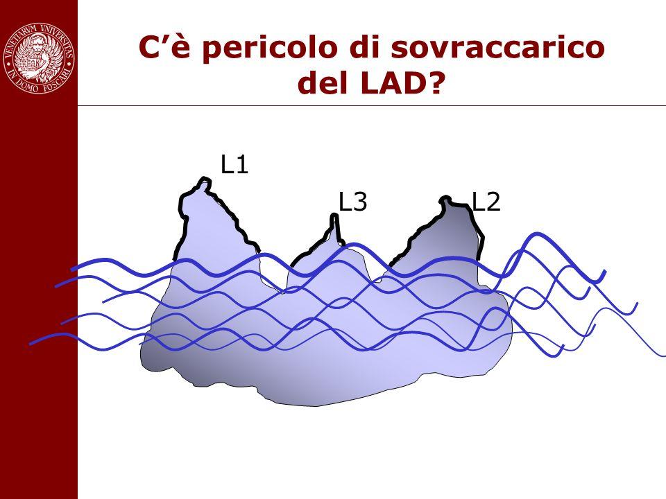 Cè pericolo di sovraccarico del LAD? L1 L3 L2