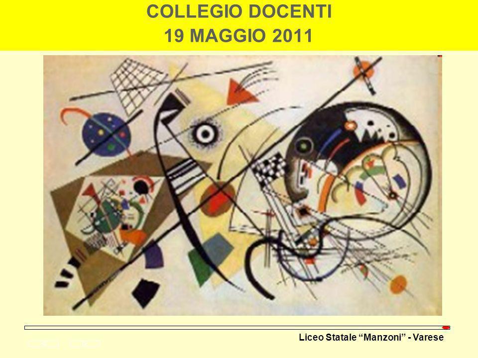 Liceo Statale Manzoni - Varese COLLEGIO DOCENTI 19 MAGGIO 2011