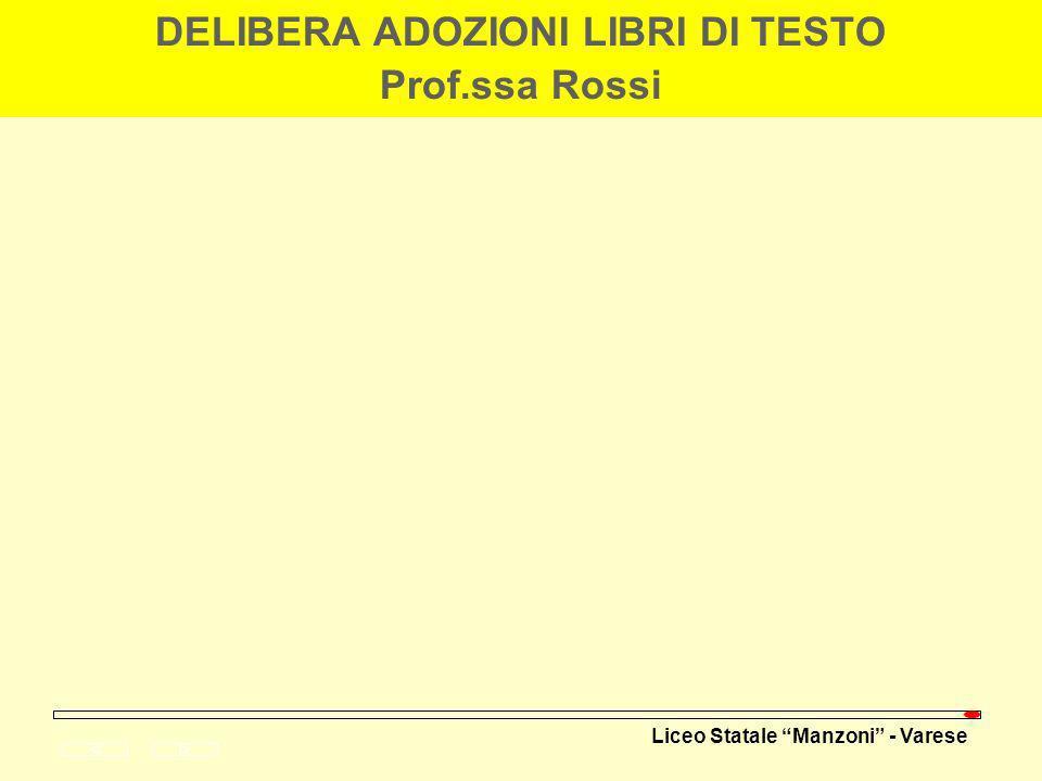 Liceo Statale Manzoni - Varese ESITI PROVE COMUNI (Prof.ssa Larotonda)