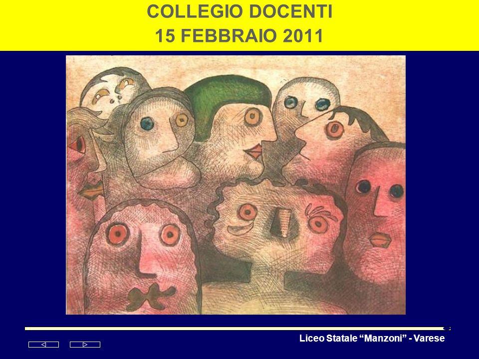 Liceo Statale Manzoni - Varese COLLEGIO DOCENTI 15 FEBBRAIO 2011 Enrico Baj Folla 1985