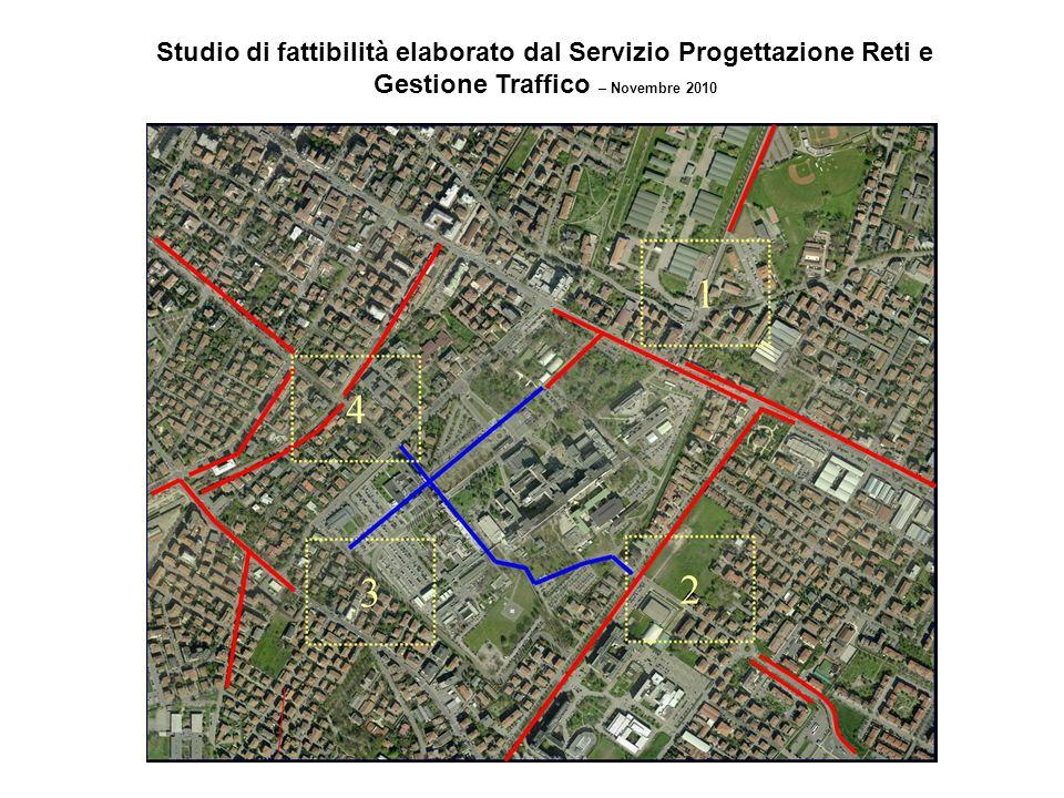 Studio di fattibilità elaborato dal Servizio Progettazione Reti e Gestione Traffico – Novembre 2010