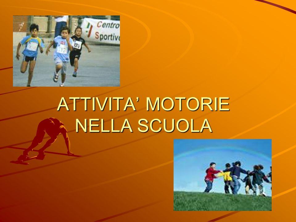 ATTIVITA MOTORIE NELLA SCUOLA