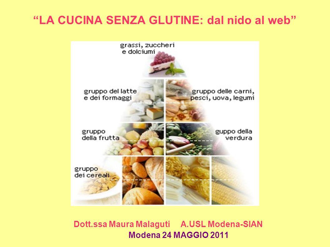 STOCCAGGIO Conservare gli alimenti senza glutine in armadio/scaffale RISERVATO a tali prodotti, facilmente identificabile