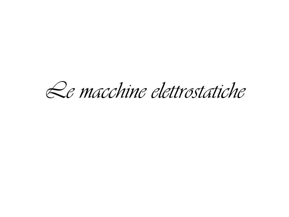 Le macchine elettrostatiche