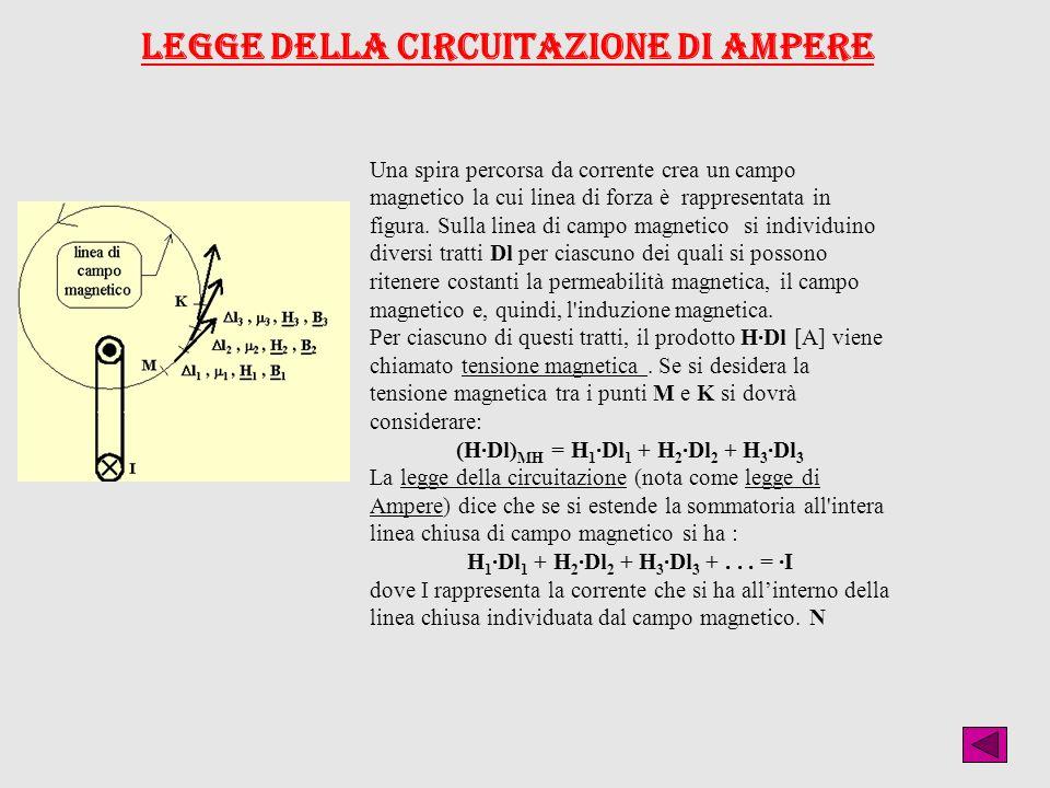Una spira percorsa da corrente crea un campo magnetico la cui linea di forza è rappresentata in figura. Sulla linea di campo magnetico si individuino