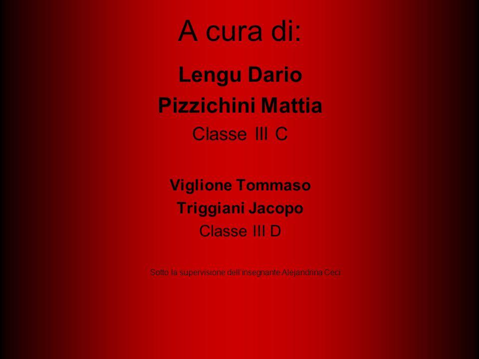 A cura di: Lengu Dario Pizzichini Mattia Classe III C Viglione Tommaso Triggiani Jacopo Classe III D Sotto la supervisione dellinsegnante Alejandrina