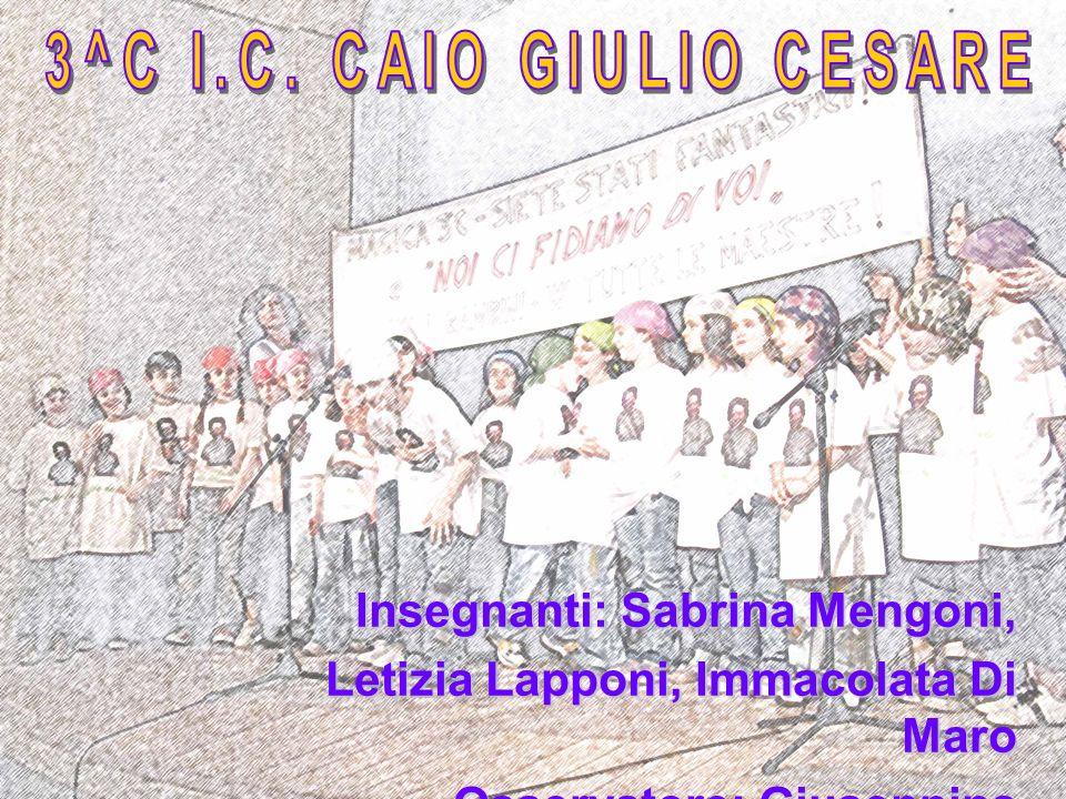 Insegnanti: Sabrina Mengoni, Letizia Lapponi, Immacolata Di Maro Osservatore: Giuseppina Vantaggiato
