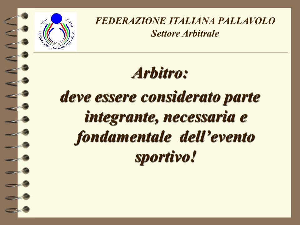 FEDERAZIONE ITALIANA PALLAVOLO Settore Arbitrale