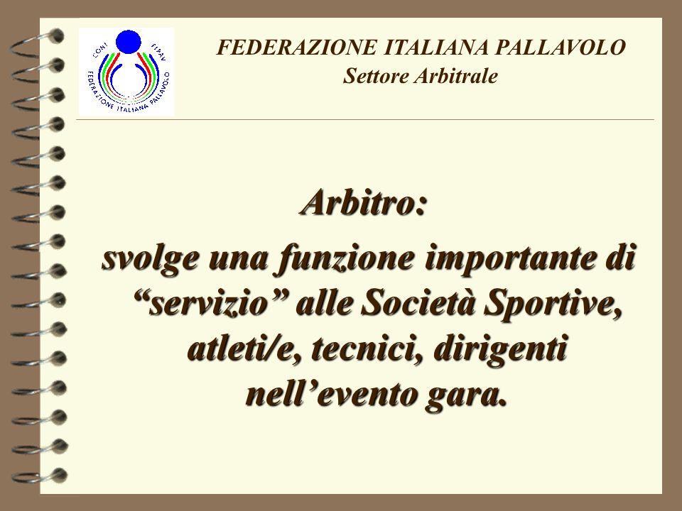 FEDERAZIONE ITALIANA PALLAVOLO Settore Arbitrale Larbitro in quanto umano, ha il diritto di sbagliare……..