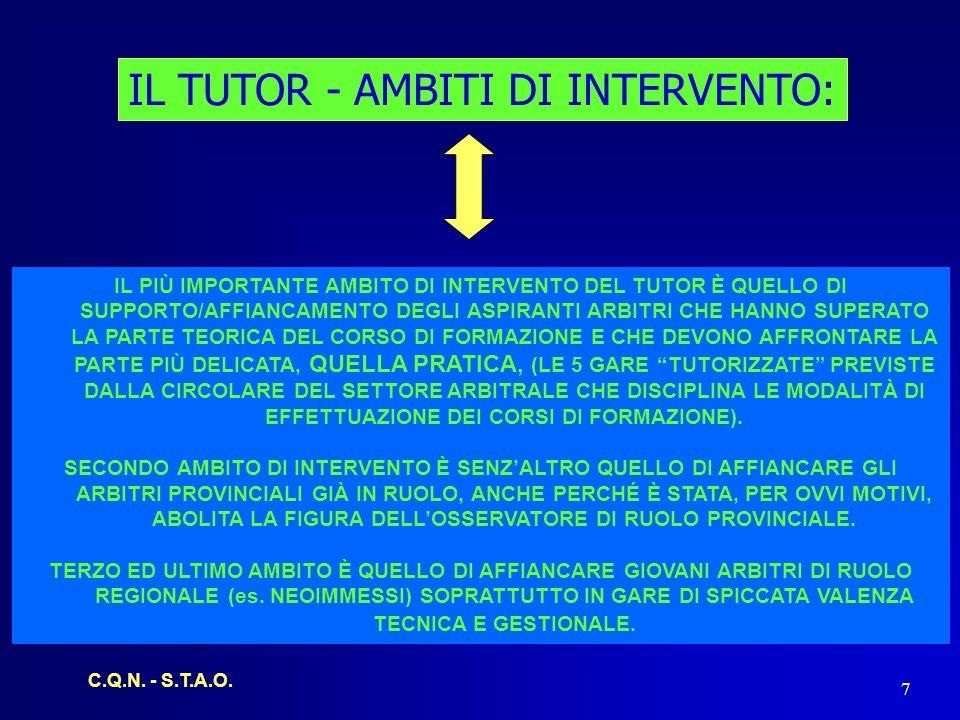 C.Q.N.- S.T.A.O. 8 IL TUTOR - AMBITI DI INTERVENTO: ARBITROTUTOR Neo Immesso1.