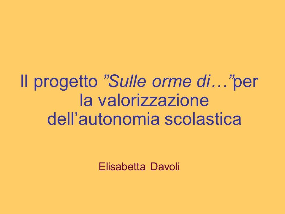 PREMESSA Il progetto SULLE ORME DI … nasce con lintento di: far conoscere e promuovere la cultura, gli usi e costumi, lartigianato ed i sapori tradizionali delle regioni italiane.