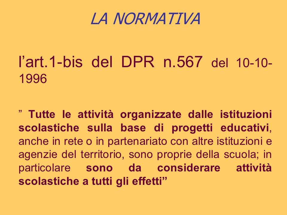 LA NORMATIVA C.M.n. 623 del 02/10/96 Le I.S.