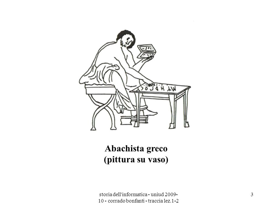 storia dell'informatica - uniud 2009- 10 - corrado bonfanti - traccia lez.1-2 3 Abachista greco (pittura su vaso)