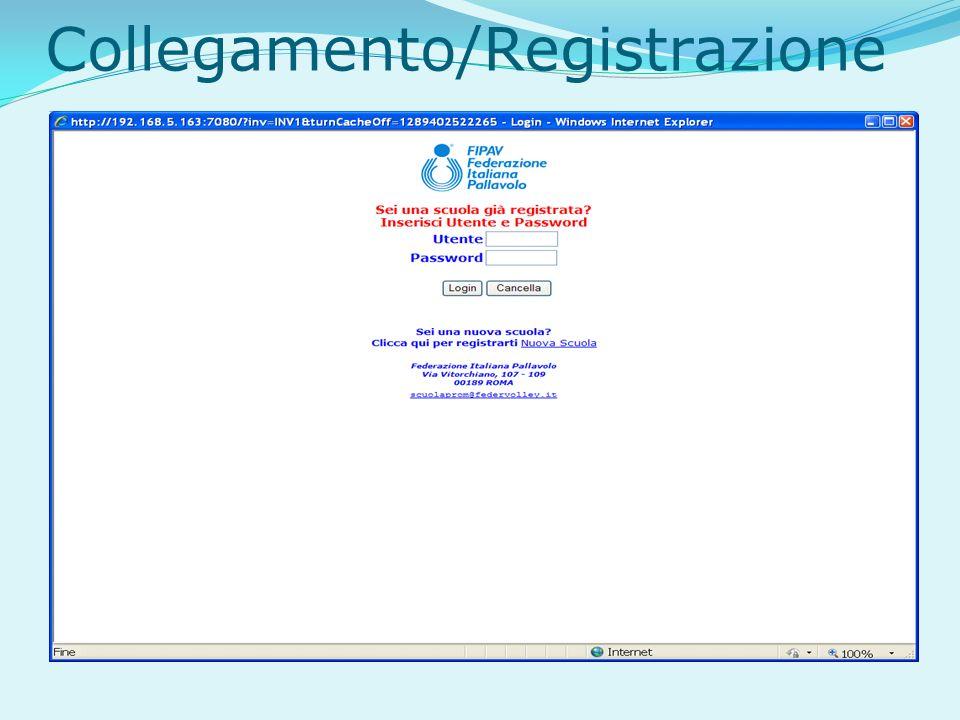 Collegamento/Registrazione