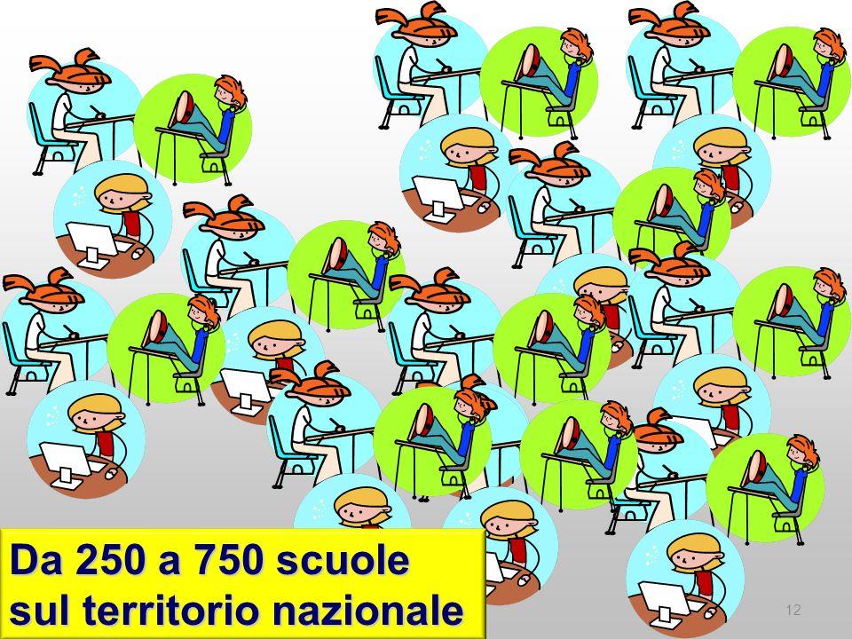 Da 250 a 750 scuole sul territorio nazionale 12