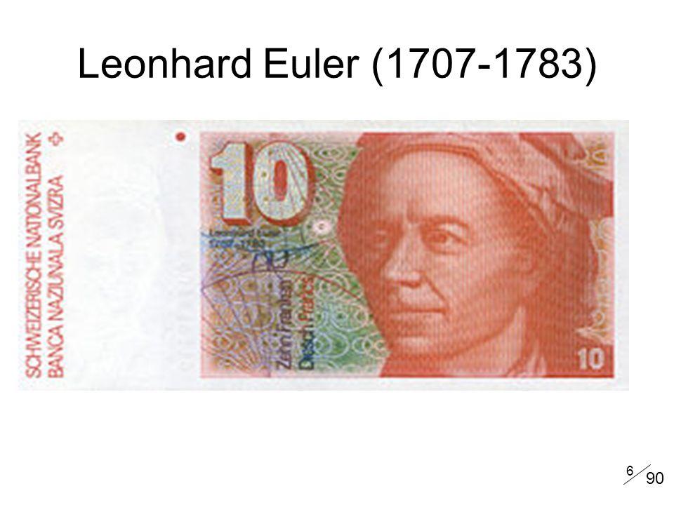 6 Leonhard Euler (1707-1783) 90