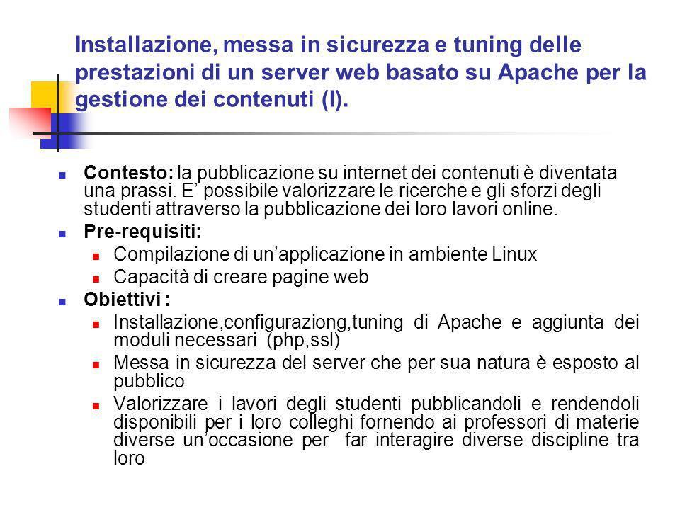 Contesto: la pubblicazione su internet dei contenuti è diventata una prassi.