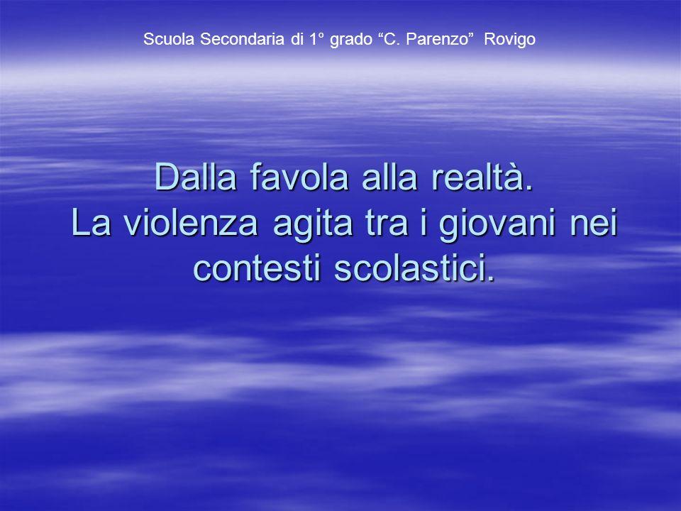 Soggetti proponenti e coinvolti.Scuola media C. Parenzo di Rovigo; Scuola media C.