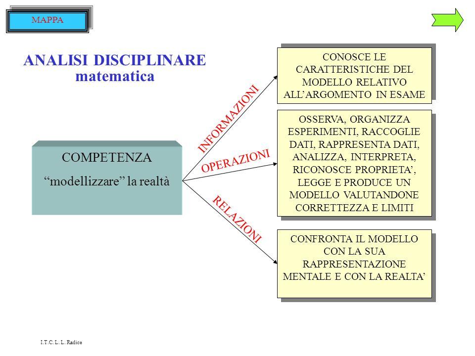 ANALISI DISCIPLINARE lingua italiana COMPETENZA sa riconoscere ed usare correttamente le principali strutture linguistiche CONOSCE LA STRUTTURA LINGUI