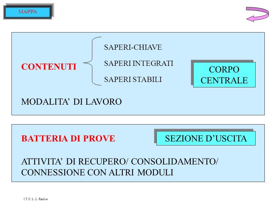 TITOLO DESTINATARI OBIETTIVI del modulo, in termini di: CONOSCENZE COMPETENZE CAPACITA PREREQUISITI RICHIESTI PROVE (verifica / autoverifica / dingres