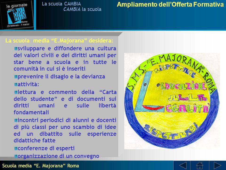 Ampliamento dellOfferta Formativa La scuola CAMBIA CAMBIA la scuola Con Prove sulla comunicazione scientifica.