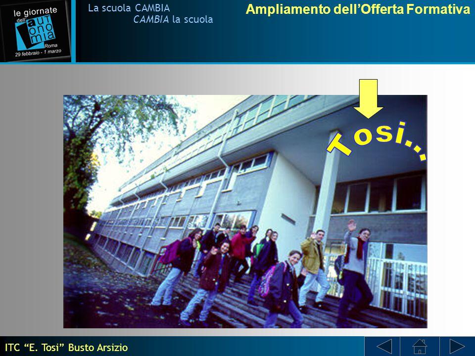 Ampliamento dellOfferta Formativa La scuola CAMBIA CAMBIA la scuola ISTITUTO TECNICO COMMERCIALE E.
