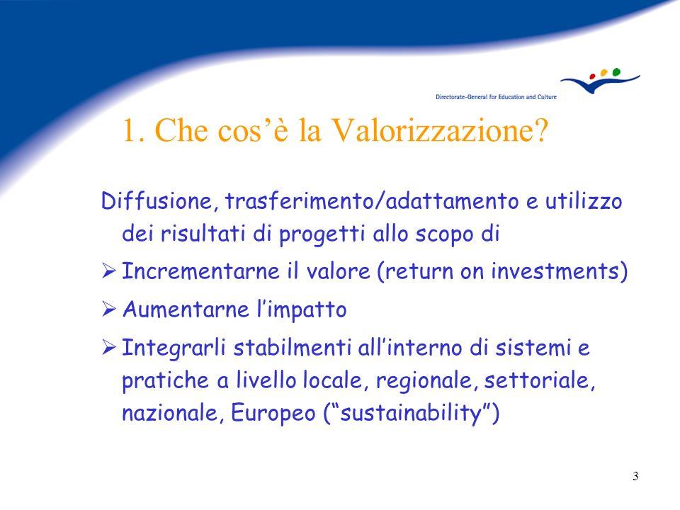 4 Perché una politica di Valorizzazione.