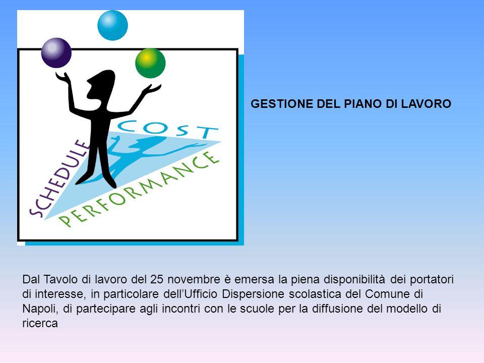 Dal Tavolo di lavoro del 25 novembre è emersa la piena disponibilità dei portatori di interesse, in particolare dellUfficio Dispersione scolastica del