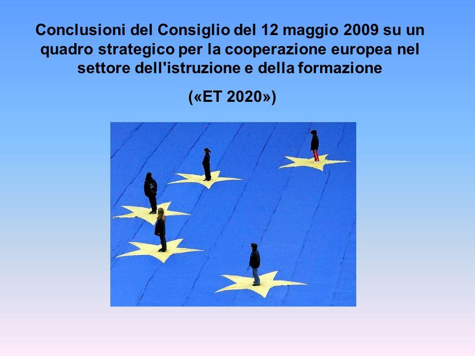 Conclusioni del Consiglio del 12 maggio 2009 su un quadro strategico per la cooperazione europea nel settore dell'istruzione e della formazione («ET 2