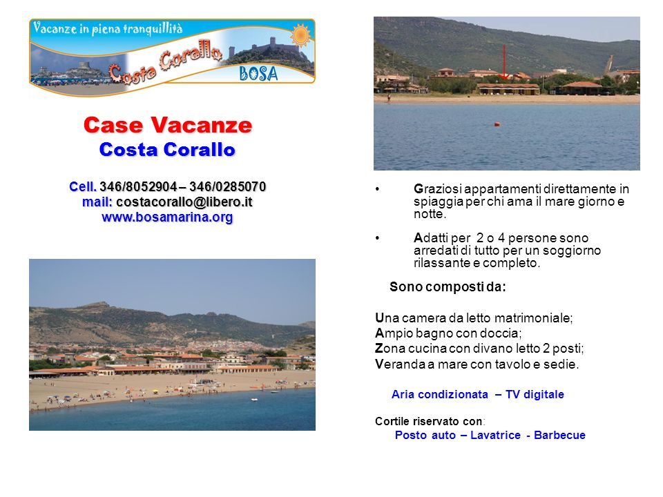 Case Vacanze Costa Corallo Cell.