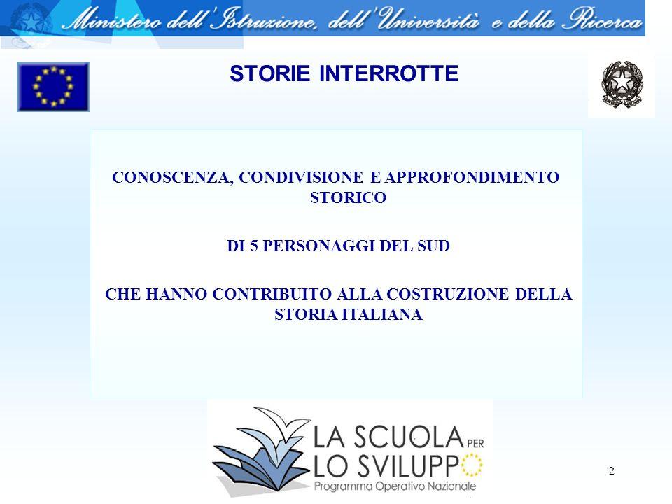 2 CONOSCENZA, CONDIVISIONE E APPROFONDIMENTO STORICO DI 5 PERSONAGGI DEL SUD CHE HANNO CONTRIBUITO ALLA COSTRUZIONE DELLA STORIA ITALIANA